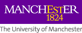 Logo of University of Manchester, established 1824, links to university home page